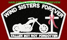 WIND SISTERS FOREVER MEMORIAL BIKER PATCH