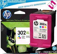 TINTA TRICOLOR 302XL ORIGINAL IMPRESORAS HP CARTUCHO HEWLETT PACKARD F6U67AE