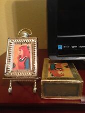 Avon Picture Frame with Easel Decanter - Elusive cologne - 1970
