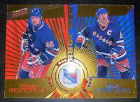 1997-98 Pacific Dynagon Wayne Gretzky Mark Messier #140 New York Rangers