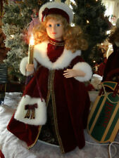 CLASSIC ANIMATED 24 inch VICTORIAN CAROLER CHRISTMAS RARE MOTION-ETTE 1996 TELCO