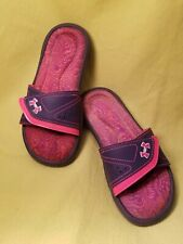 Under Armour Youth Girls Sandal Slides Shoes Size 2 Shoes Purple Pink Adjustable