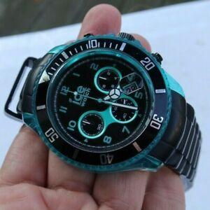 NICE Men's Aqua Blue Ice Watch Wristwatch Ice-Ramic Chrono Chronograph LOOK NR