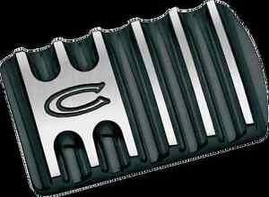 Covingtons Black Flinned Brake Pedal Pad 85-19 Harley Touring Softail FLHX FLHR