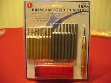 MASTER GUNSMITH BRASS STEEL AND CENTER PIN PUNCH  SET  QUALITY   TOOLS !!!!!!!!!