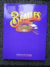BEATLES ILLUSTRATED LYRICS BOOK in great condition