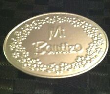 12 Mi Bautizo Embossed Tin Silver Tags For Baptism Favors Or Centerpieces
