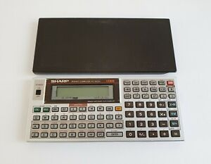Vintage Sharp PC-1403H Pocket Computer Electronic Calculator w/ Cover