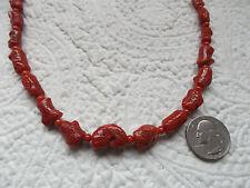 Vintage Natural Graduated  Mediterranean Oxblood Red Coral Necklace