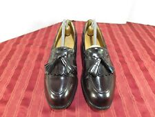 Johnston & Murphy Burgundy Leather Loafers Kiltie Tassel Dress Men Size 9 C/A