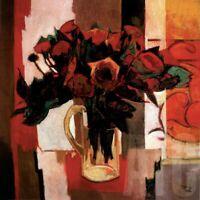 "36W""x36H"" JE T'AIME by PIERRE PIVET - BOUQUET LOVE YOU FLOWERS CHOICES of CANVAS"