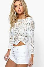 Boohoo Lace Casual Tops for Women