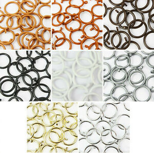Plastic Curtain Rings for 19mm to 24mm Poles 8 Colours Many Discount Pack Sizes