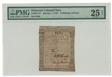 1776 Delaware Colonial Note 2 Shillings, 6 Pence PMG 25 NET VF Half Crown H68920