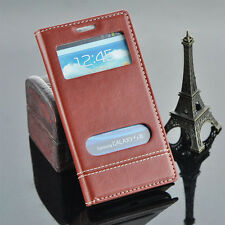 Flip Leather Wallet Cover Phone Case With Window For Samsung Galaxy S3 i9300