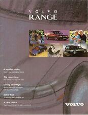 Volvo 1995-96 UK Market Sales Brochure 440 460 850 940 960
