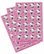 3 Sheets SANRIO Hello Kitty Adorable Apple Crayon Scrapbook Stickers!
