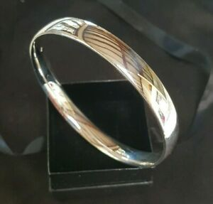 Classic 70mm Sterling Silver Plated Golf Slave Bangle 41 grams Heavy