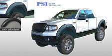 BLACK TEXTURED Extension Fender Flares 2004-2008 Ford F-150 Complete Set