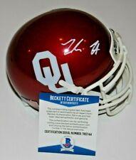 JADON HASELWOOD signed (OKLAHOMA SOONERS) mini football helmet BECKETT #1C