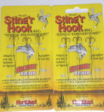 Northland Tackle Braid Treble Sting'r Trailer Hooks (Lot of 2-3/Pack)