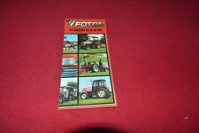 Foton FT 250 254 400 404 Tractor Dealers Brochure CDIL