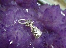 """9ct Solid 3D white gold charm """"Pineapple"""" 1.4gr."""