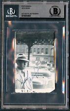 Jack Benny signed autograph 2.5x4 Vintage 1940s Snapshot Photo BAS Slabbed