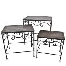 Mesas de metal para el hogar de color principal gris