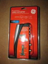 GE RF Modulator Video Converter with S-Video RCA Input F Jack Output 37632 New