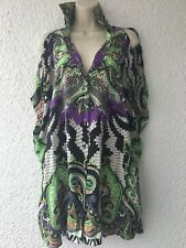 Etro  silk BLOUSE/ top size 46 Made in Italy
