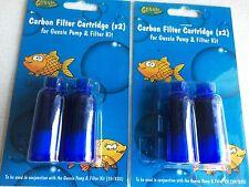 2xPack of GUSSIE Fish pump Carbon Filter Cartridge for 39/820 Aquarium/Tank kit