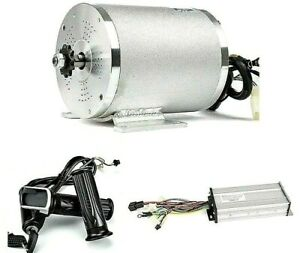 Electric Brushless DC Motor Complete Kit, 48V 2000W 4300RPM High Speed Motor