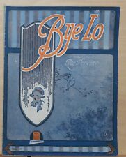 Bye Lo - 1919 sheet music by Ray Perkins  - yawning baby picture