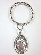 St Don Bosco /Mary Help of Christians Medal Italy Key Ring Gift Box Prayer Card