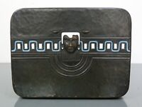 WMF,Geislingen,Schatulle,Metall,Emaille,Kupfer,Hammerschlagdekor,Art Deco,selten