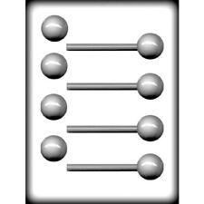 """3D Ball Lollipop Sucker 1-1/2"""" - Hard Candy Mold - 8H-6221"""