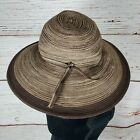 Sunday Afternoons Sun hat Womens Size Small Brown Beige Tan Tweed SPF