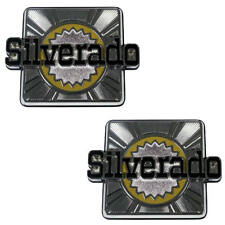 "80-88 Chevrolet K5 BLAZER ""Silverado"" Rear Quarter Panel Body Side Emblem PAIR"