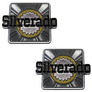 "80-88 Chevrolet K5 BLAZER ""Silverado"" Rear Quarter Panel Body Side Emblem PAIR"