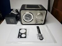 Crosley CR221 Solo AM/FM Radio -Retro Style with Cord Ant Aux OP Headphone Jack