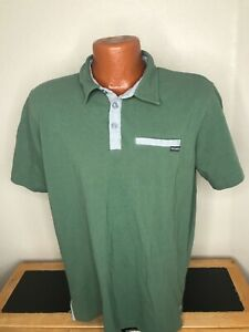 Men's Columbia PFG Omni-Shade Fishing S/S Polo/Golf Shirt Large L - Green - Poly