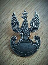 Polish Army in Exile WW2 Cap hat beret metal badge insignia