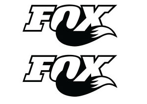 2 FOX SHOCK SUSPENSION STICKERS - 2 BIKE REPLACEMENT DECALS. 18 COLOURS