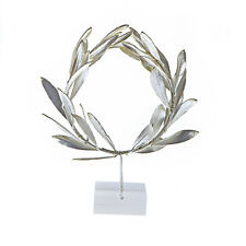 Olive Wreath - Natural Real Plant - Handmade 925 Silver Plated on Plexiglas