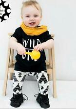 Newborn Baby Girls Boys Tops Shirt Blouse +Long Pants+Hat Outfits Clothing
