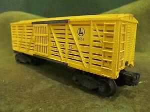 Lionel Lines Postwar 6656 Stock Car O Gauge.