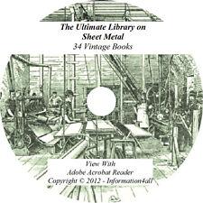 34 Books on CD, Ultimate Library on Sheet Metal, Metalwork Pattern Drafting