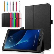 """Flip Leather Smart Cover Case For iPad Samsung Galaxy Tab E/A/S3/S2 7""""-10.1"""" WQ"""
