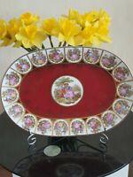 Vintage FRAGONARD idee   Oval Dekorativen plate   38/26 cm